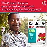 Coricidin HBP Decongestant-Free Cold & Flu Medicine for Hypertensives, Cold & Flu Symptom Relief for People with High Blood Pressure, 325 mg Acetaminophen Tablets (20 Count), Multicolor