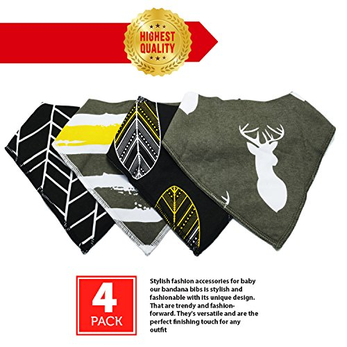 4 Pack Designer Bandana Washable organic product image