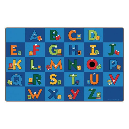B00B7N0F18 Carpets for Kids 6212 Reading Letters Library Kids Rug Rug Size: 7'6'' x 12' 51s0BdwdEVL