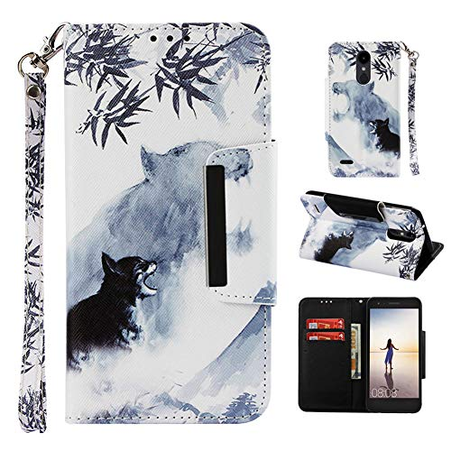 LG Fortune 3 Case,LG Aristo 2 Case,LG Zone 4 Wallet Case with Card Holder Strap Flip Stand,Camo LG Tribute Dynasty Case for Boys Men Women,LG Rebel 2 Case,LG K8 2018 Phone Case for LG K4 2017/Phoenix