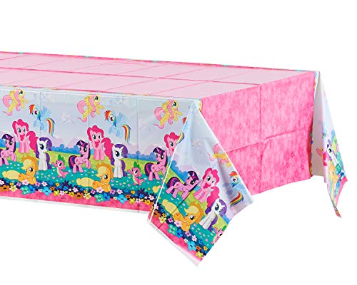 American Greetings, My Little Pony Plastic Table Cover, 54