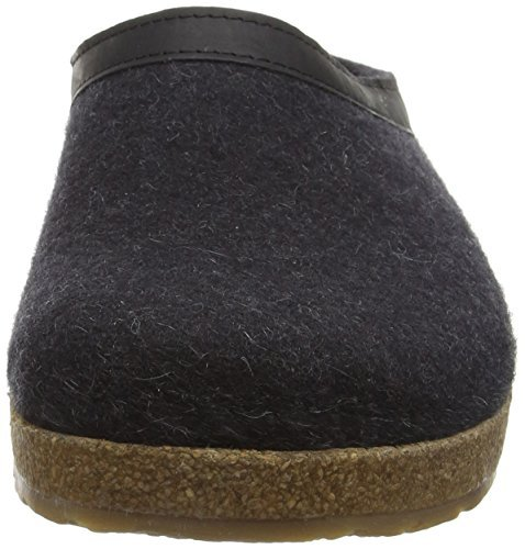 Haflinger Leather Trim Grizzly Clogs,Charcoal,47 M EU