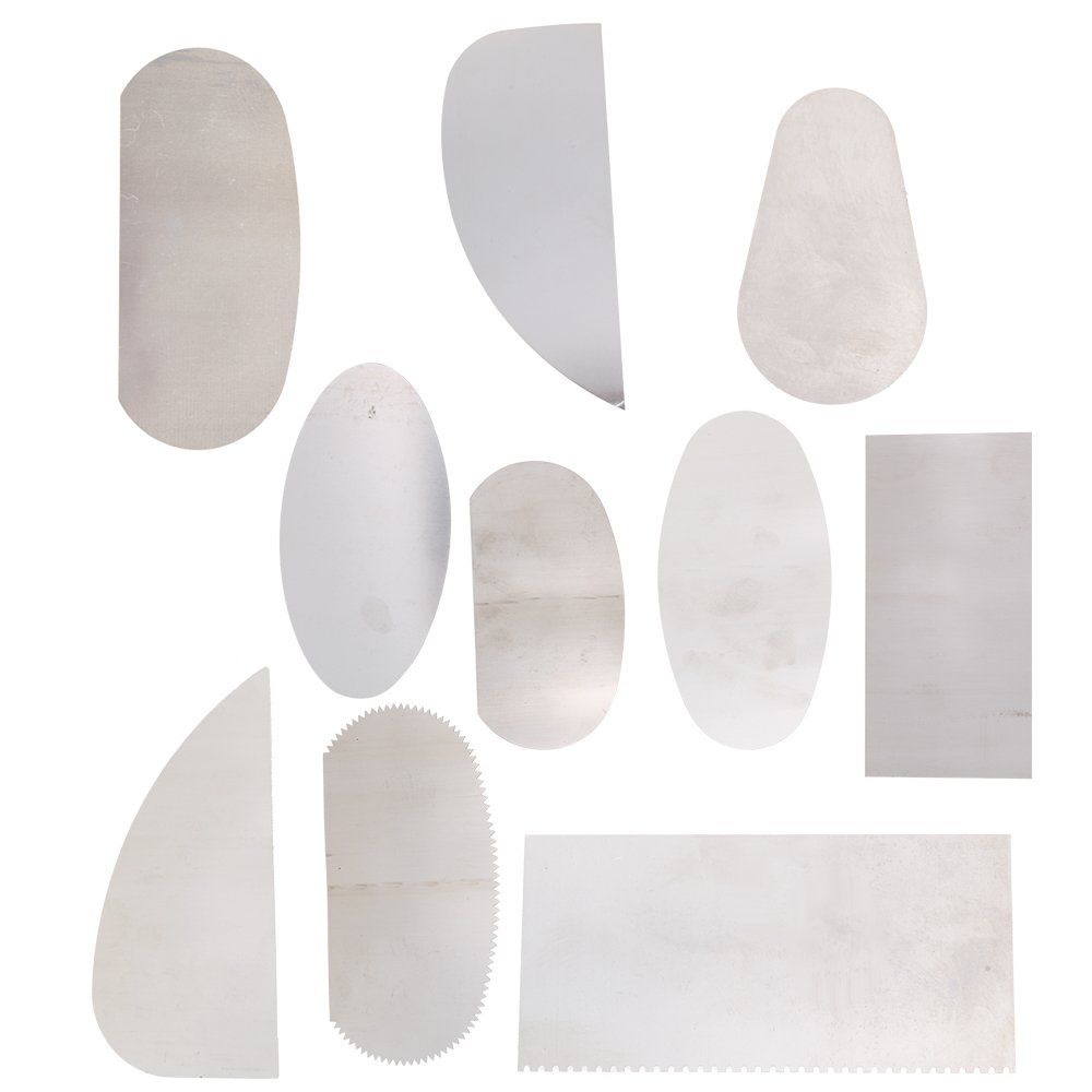 RDEXP Pottery Clay Molding Ceramics Sharp Steel Cutter Tools Scraper Crafts Pack of 10 RDEXPAM