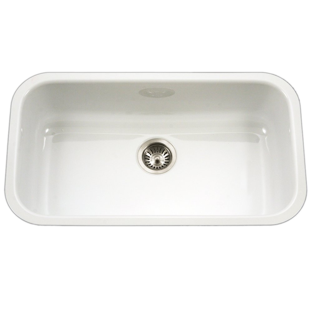 Genial Houzer PCG 3600 WH Porcela Series Porcelain Enamel Steel Undermount Single  Bowl Kitchen Sink, Large, White     Amazon.com