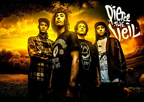 Pierce The Veil-Post Hardcore Band Fabric Cloth Rolled Wall Poster Print -- Size: (20