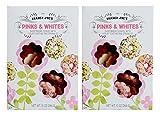 Trader Joe's Pinks & Whites Shortbread Cookies with Yogurt Coating and Sprinkles 10 Oz. (2-Pack)