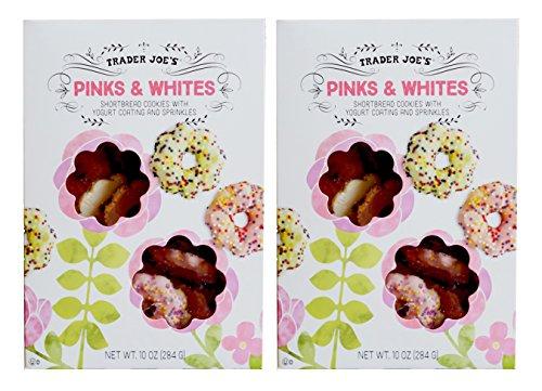 Trader Joe's Pinks & Whites Shortbread Cookies with Yogurt Coating and Sprinkles 10 Oz. ()