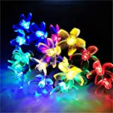 BGFHDSD 4Pcs Solar Sakura Outdoor LED Holiday Decoration String Lights Wedding Lamps Economic Bundle Sale Cherry Rope Light Flor RGB 5m 20 Cherry