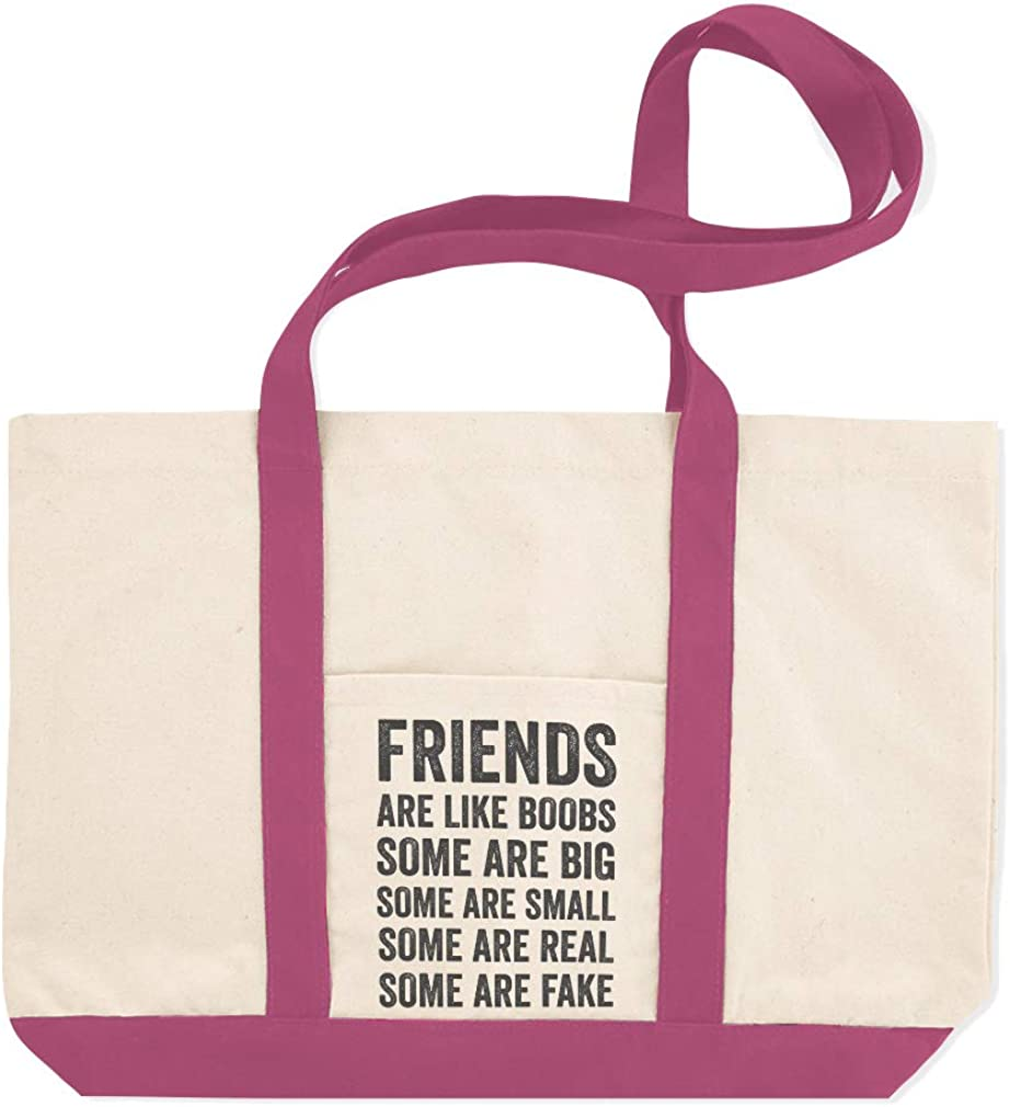 Canvas Shopping Tote Bag Are Small Some Real Fake Friends like Boobs Beach for Women Best Gift