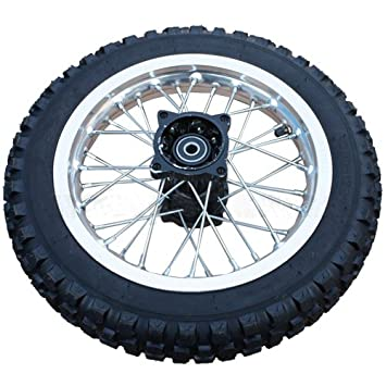 Amazon Com 12 Rear Tire Wheel Assembly For 110cc 125 Cc 150cc