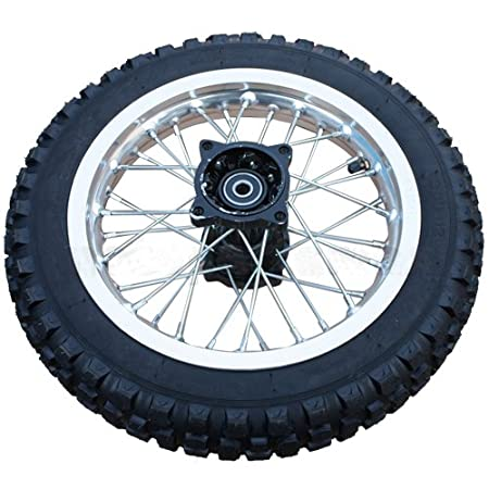 "12"" Rear Tire Wheel Assembly for 110cc 125 cc 150cc Dirt Bikes Pit Bike SSR Roketa Coolster"