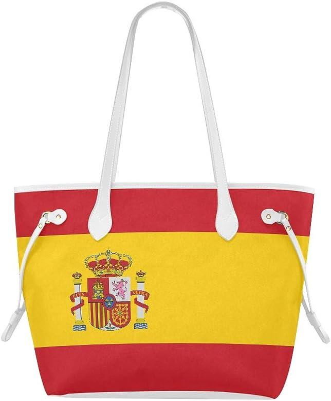 Bolso de mano compacto Bandera de alto detalle Bolsos de España Bolsos Bolso de fin de semana de gran capacidad resistente al agua con mango duradero: Amazon.es: Zapatos y complementos