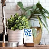 2018 Letterpress Pattern Desk Calendar with wood base