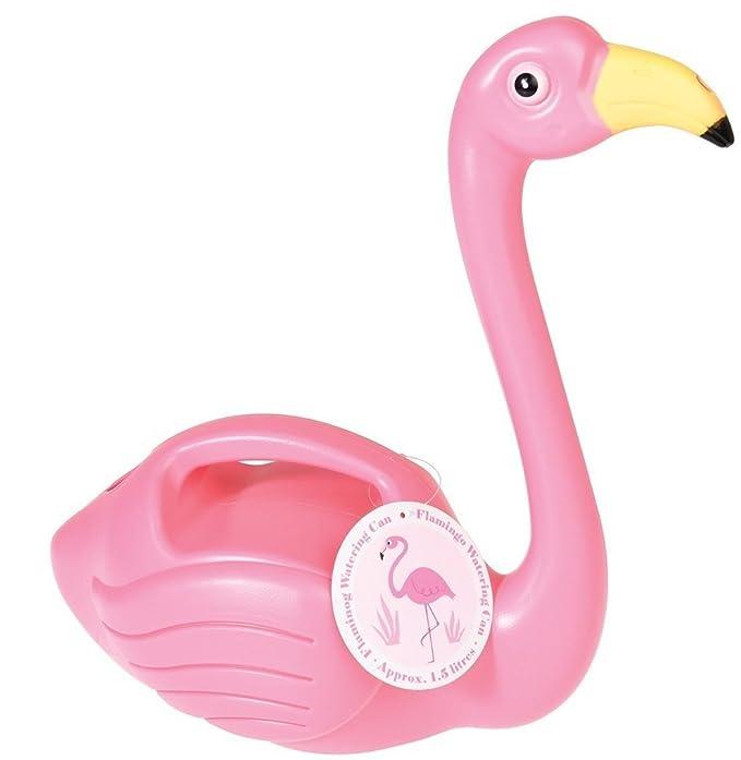 Esschert Design Flamingo Giesskanne rosa Blumen Garten 1,46 Liter