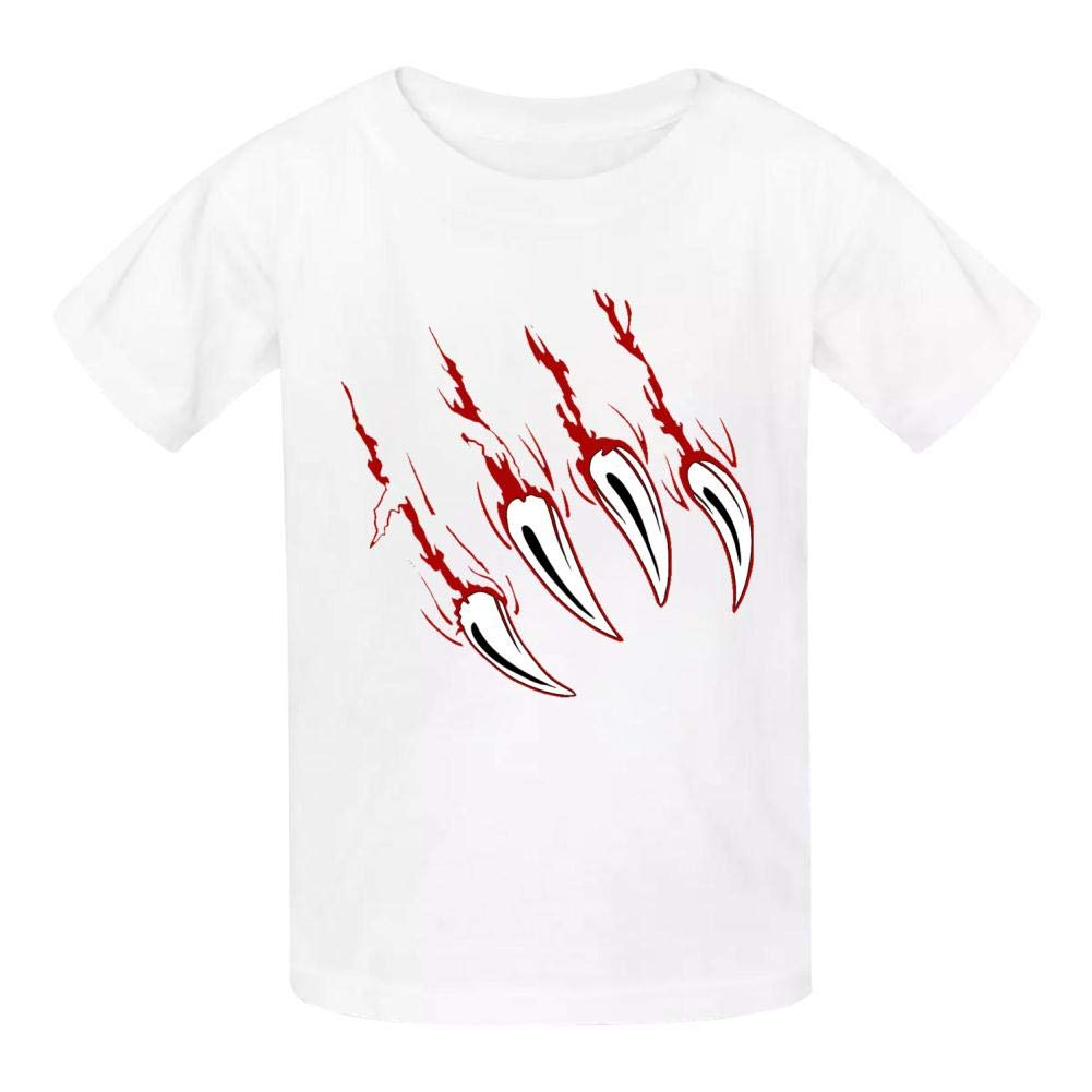 Della Graham Beast Children and Adolescent 3D Printed Outdoor Short-Sleeved T-Shirt M White