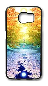 Brian114 Case, S6 Case, Samsung Galaxy S6 Case Cover, Colors Of Woods Retro Protective Hard PC Back Case for S6 ( Black )