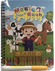 Magic Water Coloring Book - No Mess No Stains - Fun and Educational (Farm )