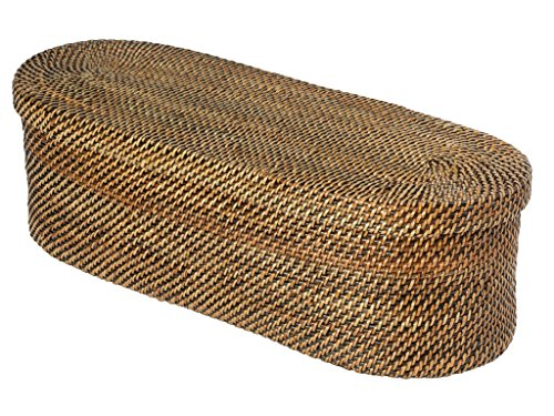 KOUBOO Carmel Handwoven Nito Toilet Paper Roll Cover, 3 Rolls, Honey Brown