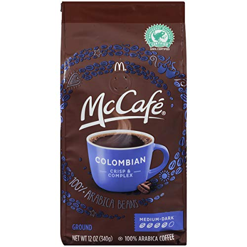 McCafe Coffee Ground Coffee, Colombian Medium-Dark Roast, 12 oz Bag