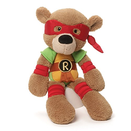 [GUND Ninja Turtles Raphael Stuffed Animal] (Plush Turtle Kids Costumes)