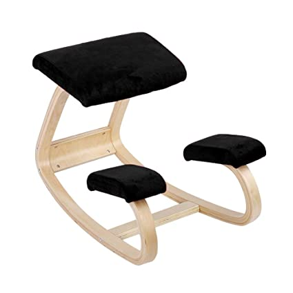 Admirable Kneeling Stool Ergonomic Kneeling Chair Comfortable Kneeling Posture Chair Healthy Wooden Stool Home Office Furniture Black Pdpeps Interior Chair Design Pdpepsorg