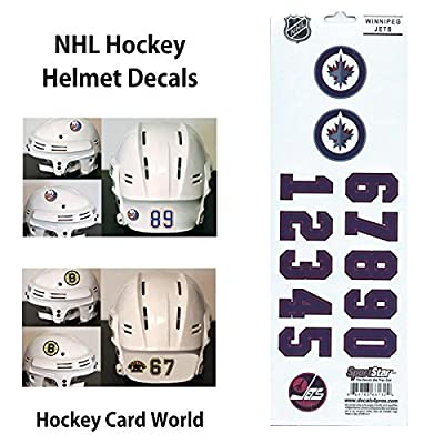(HCW) Winnipeg Jets SportsStar NHL Hockey Helmet Decals Sticker Sheet