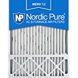Nordic Pure 20x25x5 Honeywell Replacement AC Furnace Air Filters, MERV 12 (Box of 2)