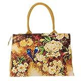 women bag - TOOGOO(R)bags handbags women Digital Printing beautiful floral canvas shoulder bags bag female£¨Orange£