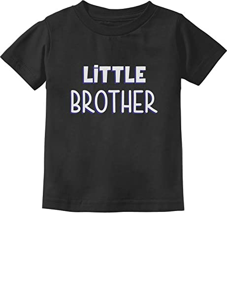 Little Brother Gift For Siblings New Toddler Infant Kids T Shirt 2T Black