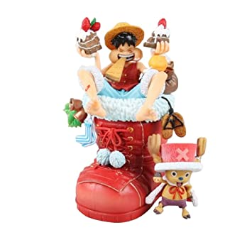 One Piece Monkey D Luffy Figure Chopper Luffy Eating On The