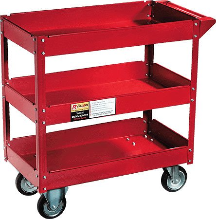 THREE TRAY ROLLING TOOL CART