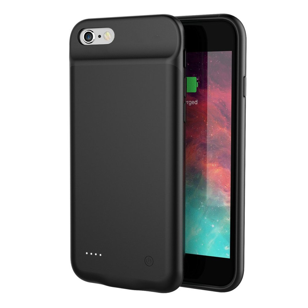 for iPhone 7 Plus Battery Case, NENG 4000mAh High Capacity Backup Battery Cover Extended Portable Charger for Apple iPhone 7+ Pack Juice(Black)