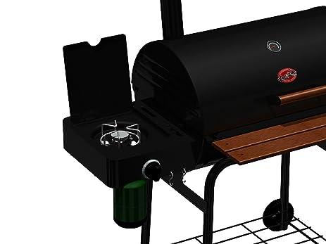 Char Griller 4444 3 In 1 Side Burner For Smokinu0027 Pro,