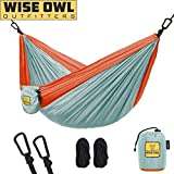 Wise Owl Outfitters Kids Hammock for Camping The Owlet Kid Child Toddler or Gear Sling Hammocks - Perfect Small Size for Indoor Outdoor or Backyard - Portable Parachute Nylon - Blue/Org