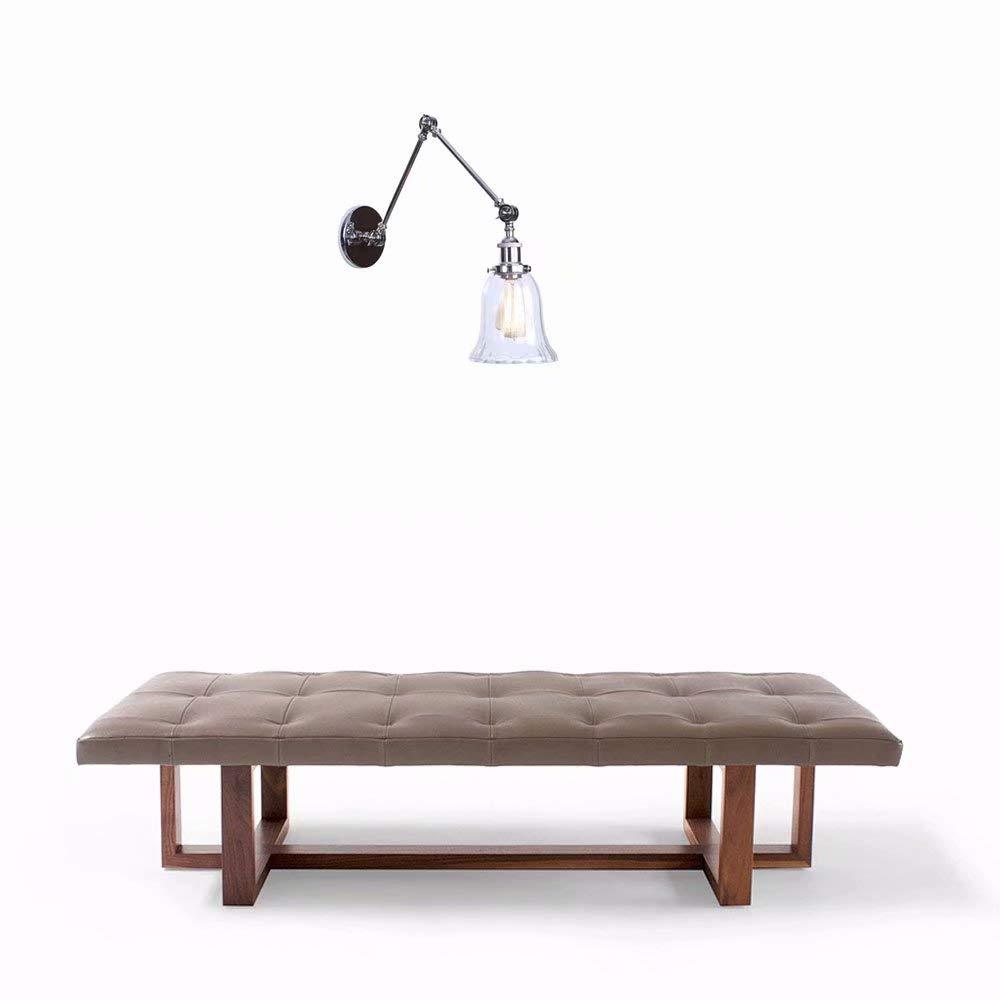 Wandlampe Retro Vintage Wandleuchte Modern Minimalistisch Wandlampen Kreativ Einfach Wandleuchten Dekorative Beleuchtung Chrome, Metall, Einstellbar, Rotierend Schalt,2-Arm, Uhr, E27 MAX 60W