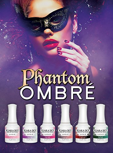 Ombre Enamel - KIARA SKY Mood Changing Gel Polish Ombre 2016PHANTOM Collection 11 Colors + FREE 1 Air Brush Stencil