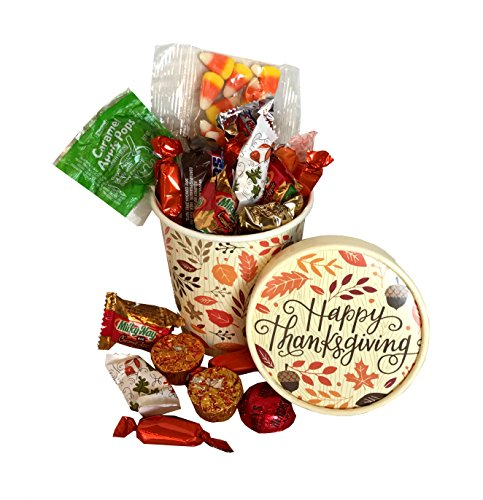 Fall Gift - Autumn Gift - Campus Care Package - Miss You Gift! Great Gift Basket for Wishing a Happy Thanksgiving! (Thanksgiving Candies)