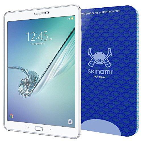 Galaxy Tab S3 Screen Protector (Samsung Galaxy Tab S2 9.7 compatible), Skinomi Tech Glass Screen Protector for Galaxy Tab S2 9.7 Clear HD and 9H Hardness Ballistic Tempered Glass Shield
