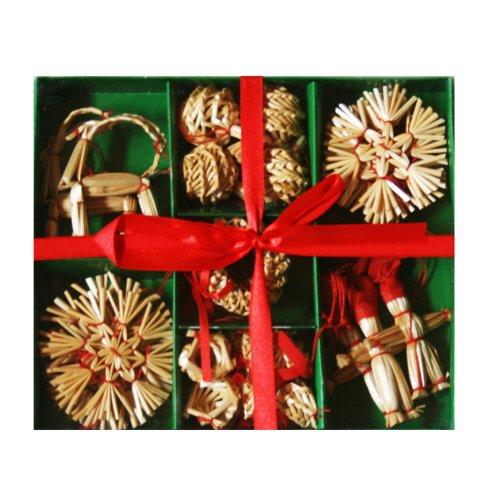 Straw Ornament Set ()