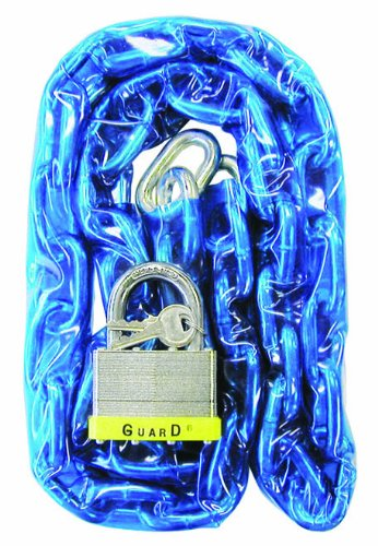 Hardened Steel Chain (Guard Security 832 Vinyl Covered Hardened Steel Chain with 744 Padlock, 4-Feet x 9/32-Inch)