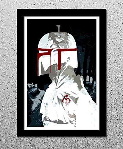 Bounty Hunter Boba Fett Star Wars Han Solo Carbonite - Original Minimalist Art Poster Print