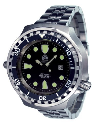 Tauchmeister Germany Big Size Diver Watch - Stainless Steel Strap T0265-M