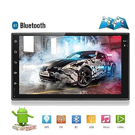 ZHUOYUE Radio para Coche Universal 2 DIN Android 8.0 Reproductor de DVD para Coche táctil Navegación GPS WiFi Bluetooth Reproductor de Radio HD Multimedia ...