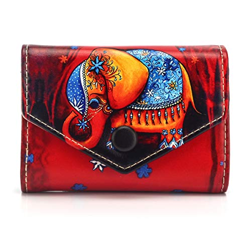 APHISON Credit Card Holder Protector ID Card Window Security Travel Wallet Leather for Women Cartoon Patterns Accordion Style with Zipper for Ladies Girls/Gift Box 186 ()