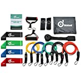 #6: Odoland 16 pcs Resistance Bands Set Workout Bands and Rehab Bands, Heavy Exercise Bands Fitness Bands with Door Anchor, Ankle Strap, Resistance Loop Bands for Gymnastics