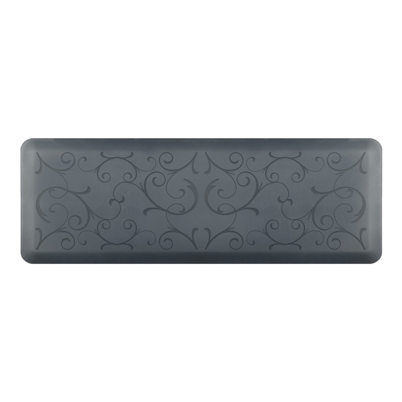 WellnessMats Anti-Fatigue 72 Inch by 24 Inch Bella Motif Kitchen Mat, Grey [並行輸入品]   B06XDXZ78N