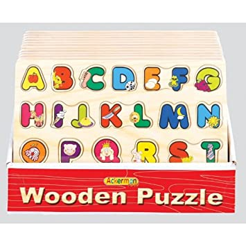 Uwoodtoys - Tablero de madera con fichas del abecedario: Amazon.es: Electrónica
