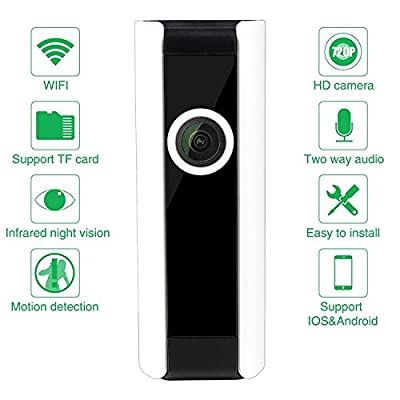 Mini Wireless IP Camera, JMAV 180 Degree Fisheye HD WiFi Camera for Home Security / Baby Monitoring, Plug & Play, Video Recording & Playback, Night Vision, Two Way Audio
