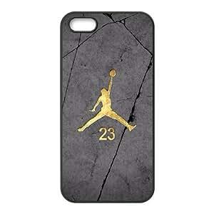Jordan logo iphone5 5s cell phone case Black Beautiful gifts KF0700158