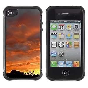 """Pulsar iFace Series Tpu silicona Carcasa Funda Case para Apple iPhone 4 / iPhone 4S , Puesta de sol Amanecer Ver árboles Nubes Forestales"""""""